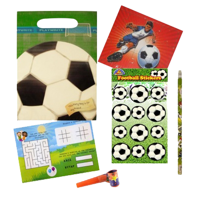 Football Gift Party Bag with football jigsaw, soccer stickers, pencil & word puzzle