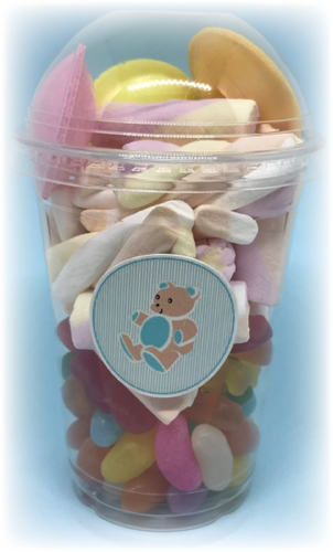Teddy Themed Sweet Tubs in blue