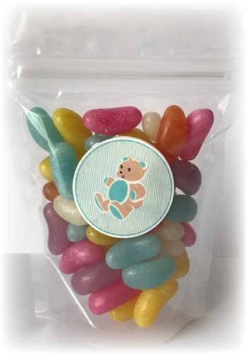 Jelly Bean sweet bags for teddy tastic parties