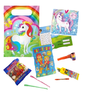 Unicorn Themed Party Bag Unixsex gifts and prizes