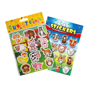 farm themed stickers for party bags