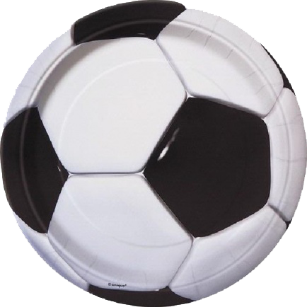 Football themed plates with soccer ball design