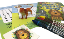 Load image into Gallery viewer, Jungle Puzzle Book, Giraffe Toy, Monkey Sticker & Crayons