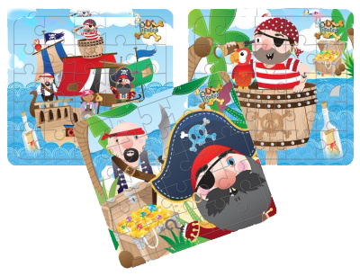 Pirate JIGSAW party fillers for party bags