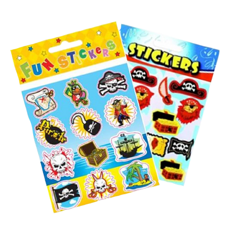 pirate themed fun stickers for party fillers