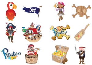 Pirate Themed party stickers for party bags