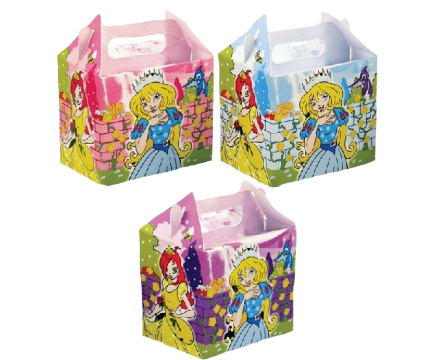 Princess themed lunch boxes used for kids parties