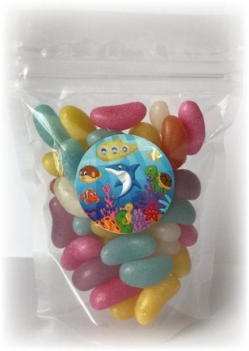 Sea Life Jelly Bean themed Sweet pouches