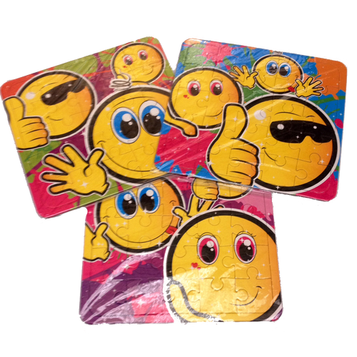 Smiley Faced Emoji jigsaw Puzzles