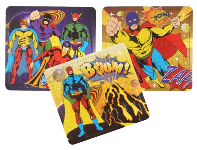 Superhero Jigsaw Puzzles, flying superman & superhero themed party jigsaw