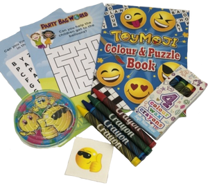Toymoji emoji activity puzzle & colouring book with colouring crayons, emoji puzzle game & word search puzzles