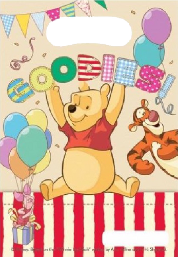 winnie the pooh themed party loot bag