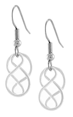 Handcrafted Celtic Knot Earrings, Silver or Two Tone, Women's French Ear Wire Earrings