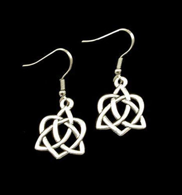 *New* Celtic Heart Earrings on French style Ear Wire
