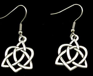 Celtic Heart Earrings on French style Ear Wire