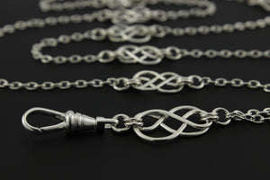 Celtic Lanyard, Silver, Two Tone or Gold Available