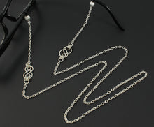 Womens Fashion Eye Glasses Necklace Chain with Handcrafted Silver Celtic Knots, Fits Most Glasses, Designer Chain
