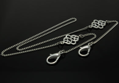 Mask Necklace w/ Fancy Celtic, 3 mm Curb Chain
