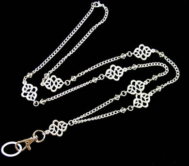 Women's Fashion ID Badge Holder Lanyard Necklace and Celtic Knots and Crystals