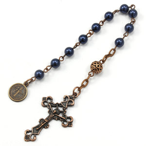 *New* Open One Decade Catholic Rosary, Pocket Rosary, Epoxy Coated Copper