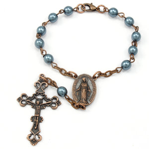 Aromatherapy Essential Oil Diffuser Necklace with Silver Filigree Locket and Pearls