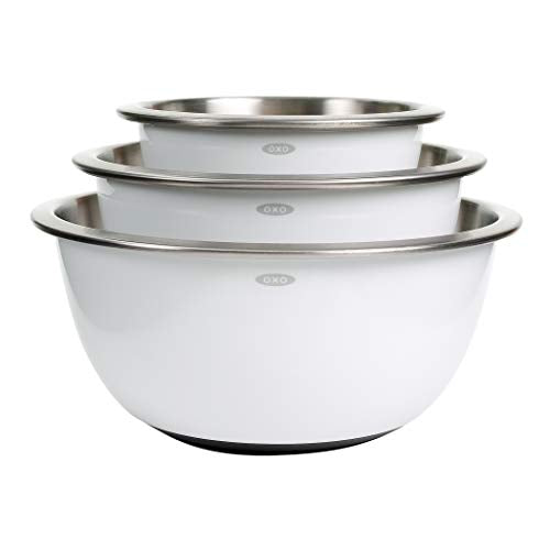 OXO Good Grips 3-Piece Stainless-Steel Mixing Bowl Set