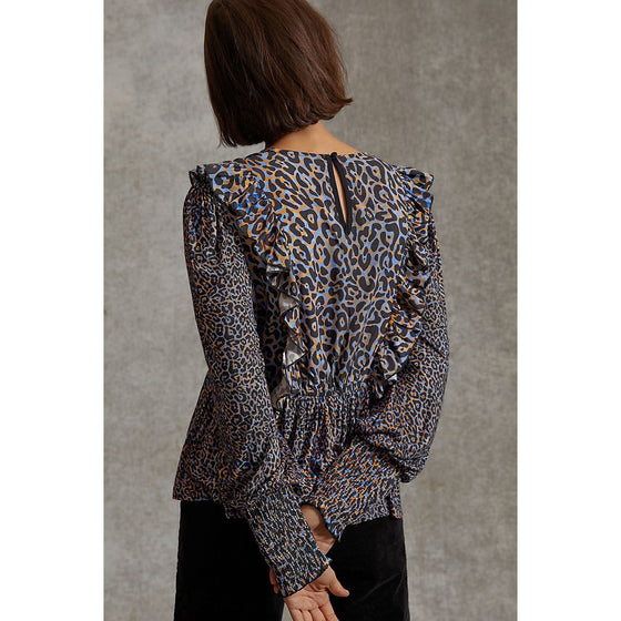 Moira Ruffled Peplum Top