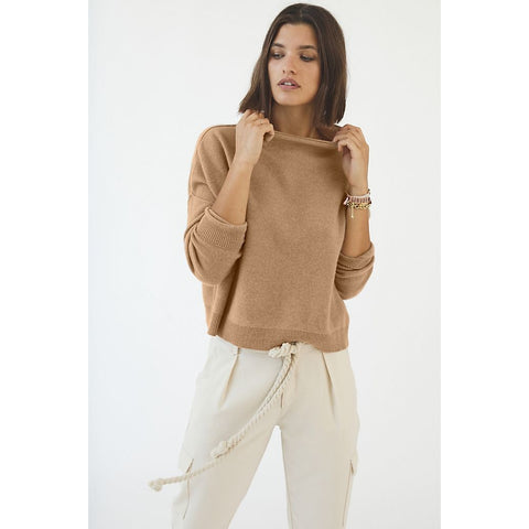 Pilcro Alani Cashmere Mock Neck Sweater