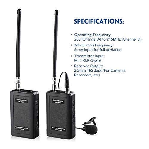 Saramonic Dual Wireless VHF Lavalier Microphone Bundle