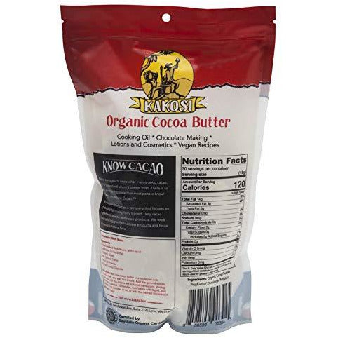 KAKOSI - Organic Raw 100% Pure Cocoa Butter - 16 oz.
