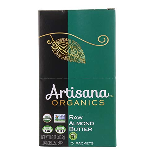 Artisana Organics Non GMO Raw Almond Butter (10 Pack (1.06 oz))