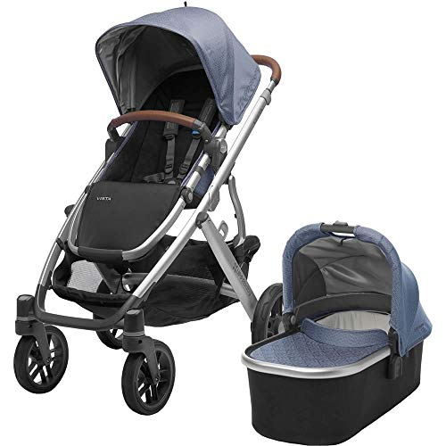 2018 UPPAbaby Vista Stroller -Henry (Blue Marl/Silver/Saddle Leather)