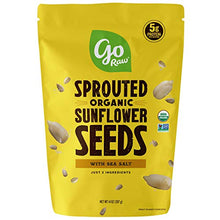 Go Raw Sunflower Seeds with Sea Salt, Sprouted & Organic, 14 oz. Bag | Keto | Vegan | Gluten Free Snacks | Superfood