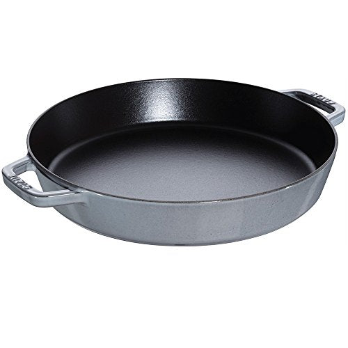 Staub Double Handle Fry Pan, Graphite Grey, 13""