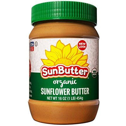 SunButter Sunflower Butter, Delicious, Organic Alternative to Peanut Butter, 16 ounce plastic jars, Pack of 3