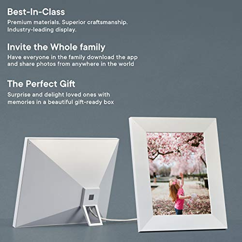 Aura Digital Photo Frame, 10 HD Display New 2019, 2048 x 1536 Resolution with Free Cloud Storage