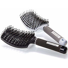 Boar Bristle Hair Brush set - Curved and Vented Detangling Hair Brush