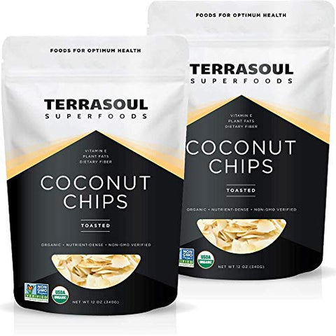 Terrasoul Superfoods Organic Toasted Coconut Chips, 1.5 Lbs - Unsweetened | Unsalted | Perfectly Toasted Coconut