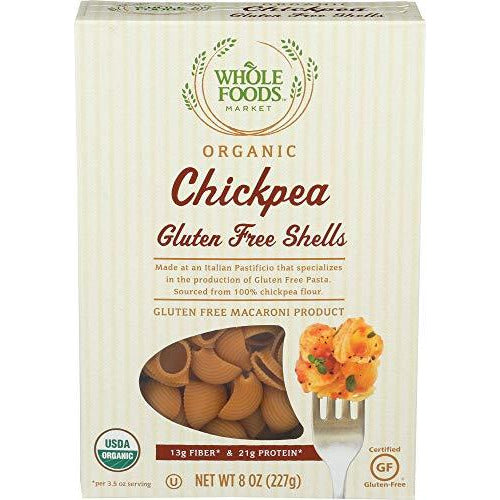 Whole Foods Market, Organic Chickpea Gluten Free Shells, 8 oz
