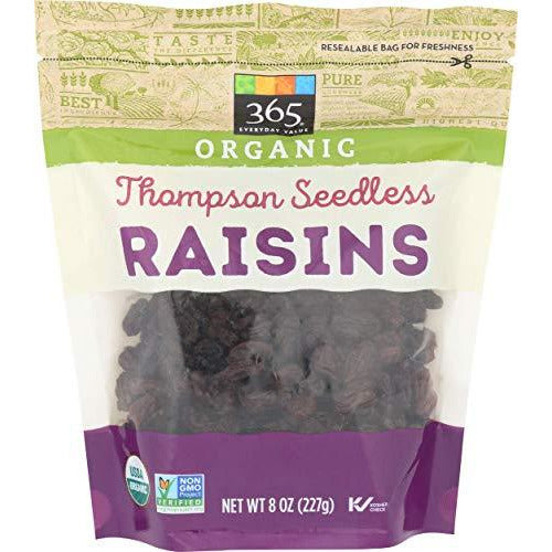 365 Everyday Value, Organic Raisins, Thompson Seedless, 8 oz