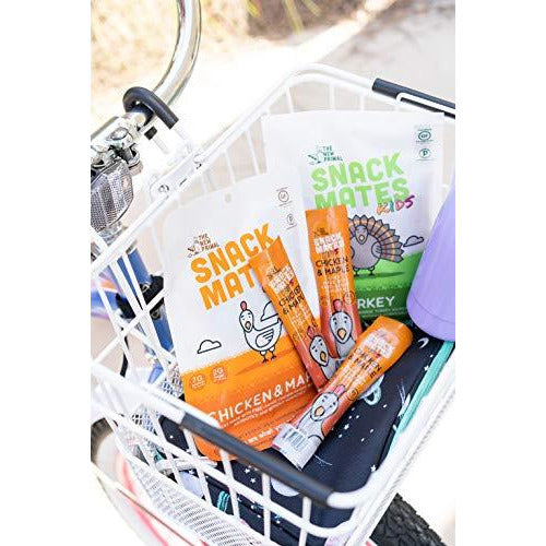THE NEW PRIMAL SNACK MATES Free-Range Chicken MINI Sticks, Keto, Paleo, High Protein, Gluten-Free, .5 Oz Sticks, Turkey Sticks 8 Pack. LUNCHBOX FRIENDLY
