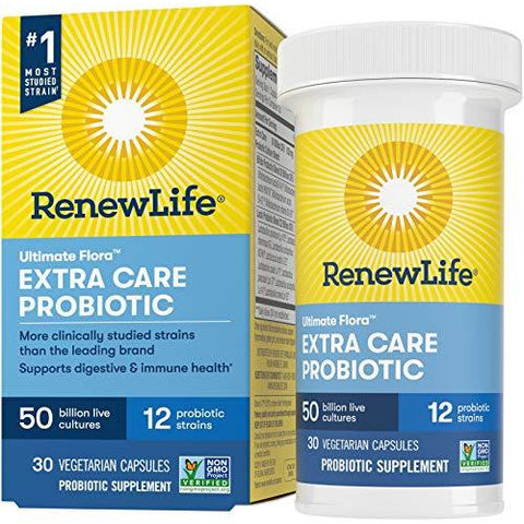 Renew Life Adult Probiotic - Ultimate Flora Extra Care Probiotic Supplement for Men & Women