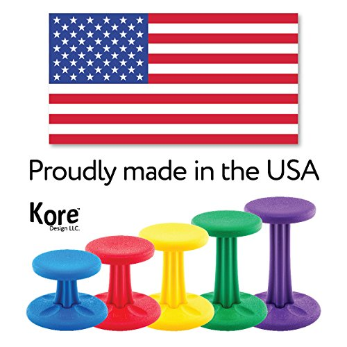 Kore Pre-Teen Wobble Chair - Flexible Seating Stool for Classroom, Home & School, ADD/ADHD - Made in USA - Age 10-11, Grade 5-6, Grey (18in)