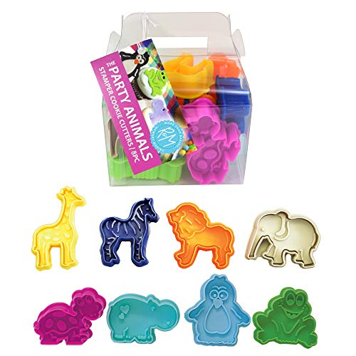 "R&M International Party Animals, Set of 8 Stamper Set, Standard 2"" (8-Piece, Silver"