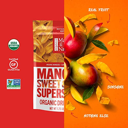 Made In Nature Organic Dried Mangoes, 28oz - Non-GMO Vegan Dried Fruit Super Snack