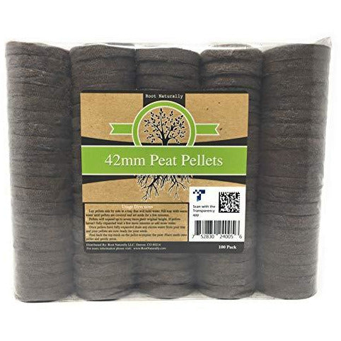 Root Naturally Super 42mm Peat Pellets - 100 Count