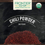 Frontier Co-op Chili Powder Blend, Certified Organic, Kosher, Salt-Free, Non-irradiated | 1 lb. Bulk Bag