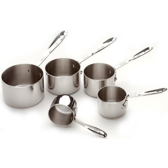 All-Clad Stainless Steel Measuring Cup Set, 5-Piece, Silver