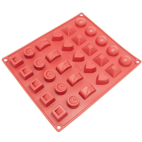 Freshware Silicone Mold, Chocolate Mold, Candy Mold, Ice Mold, Soap Mold for Chocolate, Candy and Gummy, Assorted, 30-Cavity