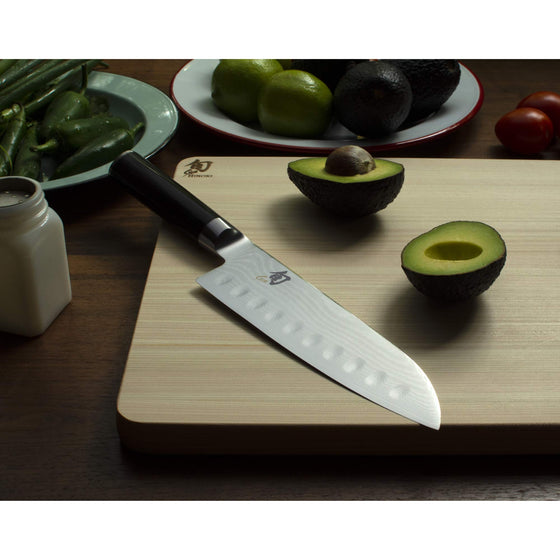 "Shun Classic 7"" Hollow-Ground Santoku All-Purpose Kitchen Knife"